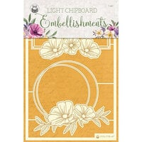 P13 - Time To Relax Collection - Light Chipboard Embellishments - Set 04