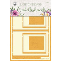 P13 - Time To Relax Collection - Light Chipboard Embellishments - Set 05