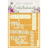 P13 - Time To Relax Collection - Light Chipboard Embellishments - Set 07