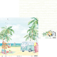 P13 - Summer Vibes Collection - 12 x 12 Double Sided Paper - 01