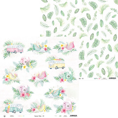 P13 - Summer Vibes Collection - 12 x 12 Double Sided Paper - 03