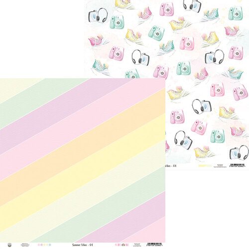 P13 - Summer Vibes Collection - 12 x 12 Double Sided Paper - 04
