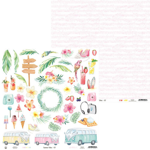 P13 - Summer Vibes Collection - 12 x 12 Double Sided Paper - 07