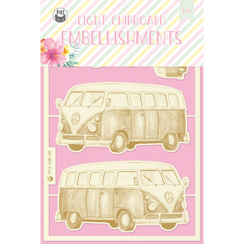 P13 - Summer Vibes Collection - Chipboard Embellishments - Set 03