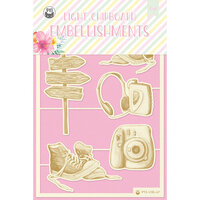 P13 - Summer Vibes Collection - Chipboard Embellishments - Set 04