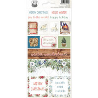 P13 - The Four Seasons Collection - Cardstock Sticker Sheet - Winter 02