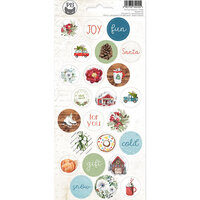 P13 - The Four Seasons Collection - Cardstock Sticker Sheet - Winter 03