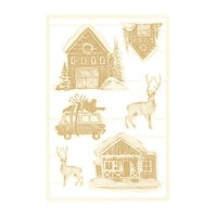 P13 - The Four Seasons Collection - Chipboard Embellishments - Winter Set 04