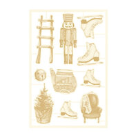 P13 - The Four Seasons Collection - Chipboard Embellishments - Winter Set 05