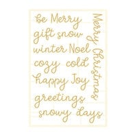 P13 - The Four Seasons Collection - Chipboard Embellishments - Winter Set 07