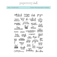Papertrey Ink - Clear Photopolymer Stamps - Say It Essentials