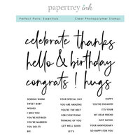 Papertrey Ink - Clear Photopolymer Stamps - Perfect Pairs - Essentials