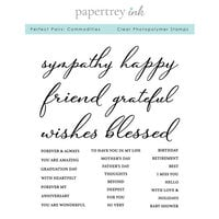 Papertrey Ink - Clear Photopolymer Stamps - Perfect Pairs - Commodities
