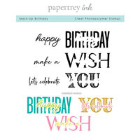 Papertrey Ink - Clear Photopolymer Stamps - Mash-Up Birthday