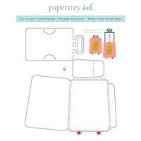 Papertrey Ink - Metal Dies - Go-To Gift Card Holder - Vintage Suitcase