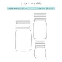 Papertrey Ink - Metal Dies - Spook-tacular Mason Jars