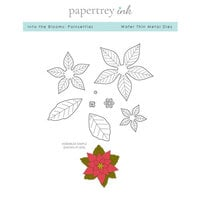 Papertrey Ink - Christmas - Metal Dies - Into the Blooms - Poinsettias