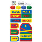 Paper Wizard - Block Party Collection - Lego - Stickers - Mini Words and Phrases
