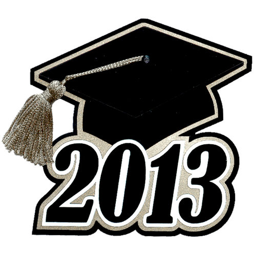 Paper Wizard - Graduation Collection - Grad Cap 2013 with Silver Tassel