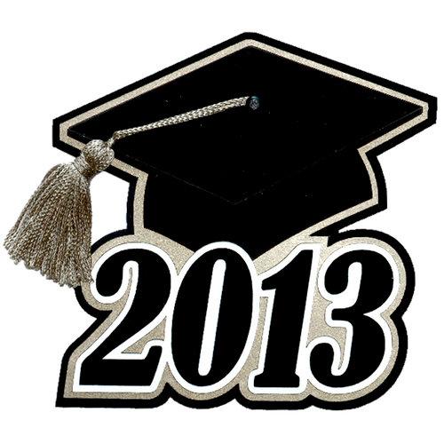 Paper Wizard - Graduation Collection - Grad Cap 2013 with Silver Tassel