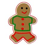 Paper Wizard - Happy Holidays Collection - Christmas - Die Cuts - Gingerbread Boy