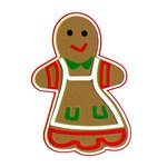 Paper Wizard - Happy Holidays Collection - Christmas - Die Cuts - Gingerbread Girl