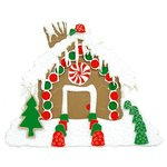 Paper Wizard - Happy Holidays Collection - Christmas - Die Cuts - Gingerbread House