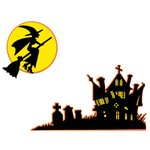 Paper Wizard - Holidays Collection - Die Cuts - Halloween Scene