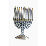 Paper Wizard - Happy Holidays Collection - Die Cuts - Hanukkah Menorah