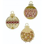 Paper Wizard - Happy Holidays Collection - Christmas - Die Cuts - Holiday Ornaments - Gold
