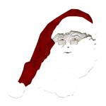 Paper Wizard - Happy Holidays Collection - Christmas - Die Cuts - Santa with Glasses