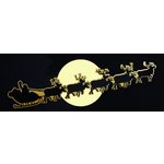 Paper Wizard - Happy Holidays Collection - Christmas - Die Cuts - Santa With Sleigh