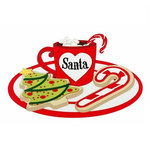 Paper Wizard - Holiday Collection - Christmas - Die Cuts - Santa Mug and Cookies