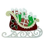 Paper Wizard - Happy Holidays Collection - Christmas - Die Cuts - Santa's Sleigh