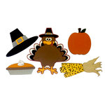 Paper Wizard - Holiday Collection - Die Cuts - Turkey Minis