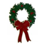Paper Wizard - Happy Holidays Collection - Die Cuts - Christmas Wreath