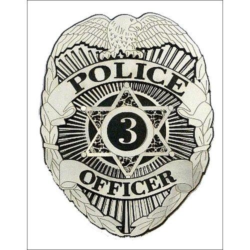 Paper Wizard - Die Cuts - Police Officer's Badge
