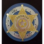 Paper Wizard - Travel Log Collection - Die Cuts - Sheriff's Badge - Gold