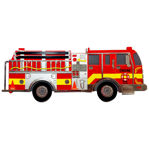 Paper Wizard - Civil Service Collection - Fire Truck