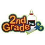 Paper Wizard - School Days Collection - Die Cuts - 2nd Grade