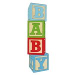 Paper Wizard - Die Cuts - Baby Blocks - Blue