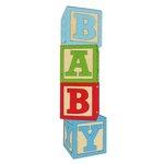 Paper Wizard - Die Cuts - Baby Blocks - Blue