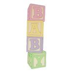 Paper Wizard - Die Cuts - Baby Blocks - Pink