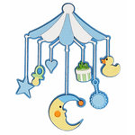 Paper Wizard - Die Cuts - Baby Mobile - Blue