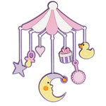 Paper Wizard - Die Cuts - Baby Mobile - Pink
