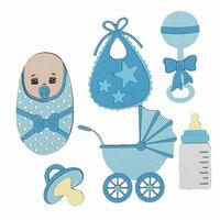 Paper Wizard - Die Cuts - Oh Baby, Minis Blue