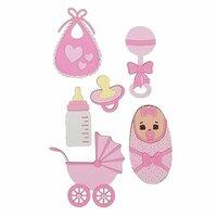 Paper Wizard - Die Cuts - Oh Baby, Minis Pink