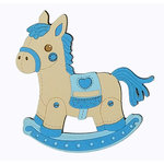 Paper Wizard - Die Cuts - Rocking Horse - Blue