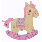 Paper Wizard - Die Cuts - Rocking Horse - Pink