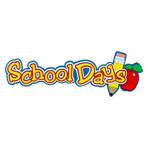 Paper Wizard - School Days Collection - Die Cuts - School Days Title